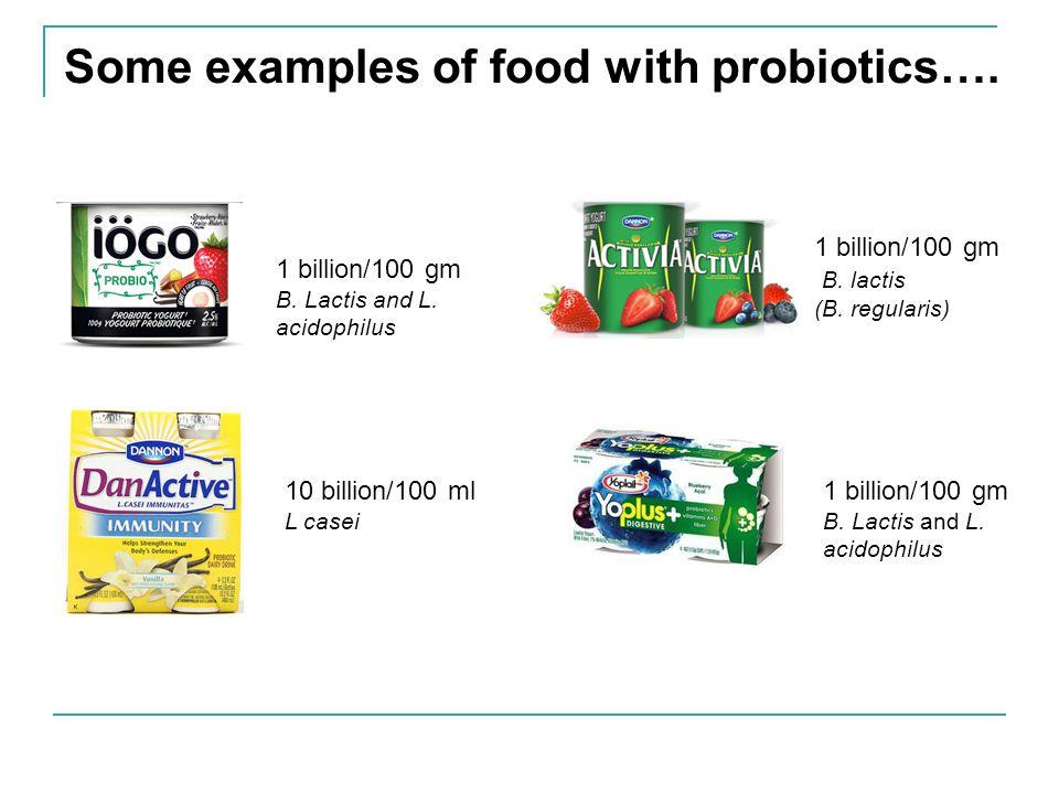 Some Probiotic Supplements 1 billion CFU Bifidobacterium infantis 35624.
