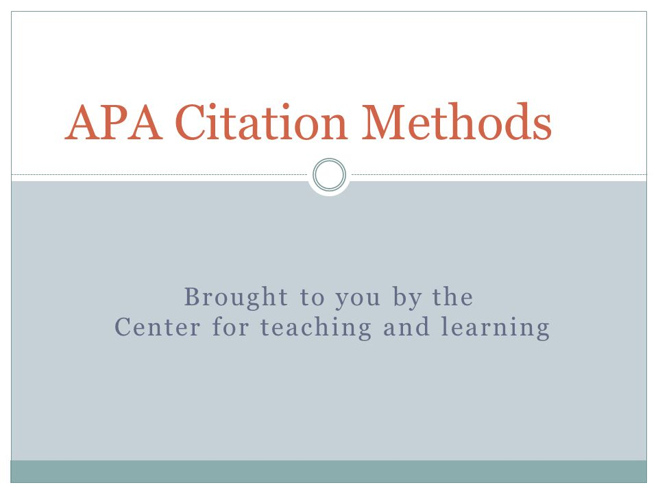 What is APA.American Psychological Association When is it mostly used.