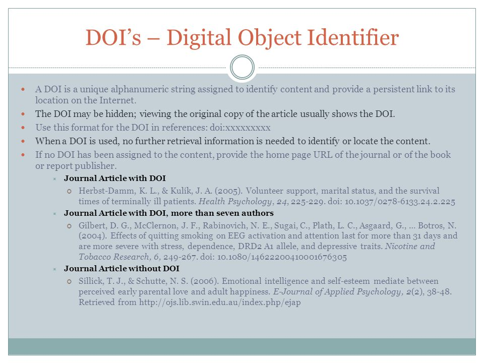 Where do you locate the DOI? Here's the DOI, on the first page of the article.