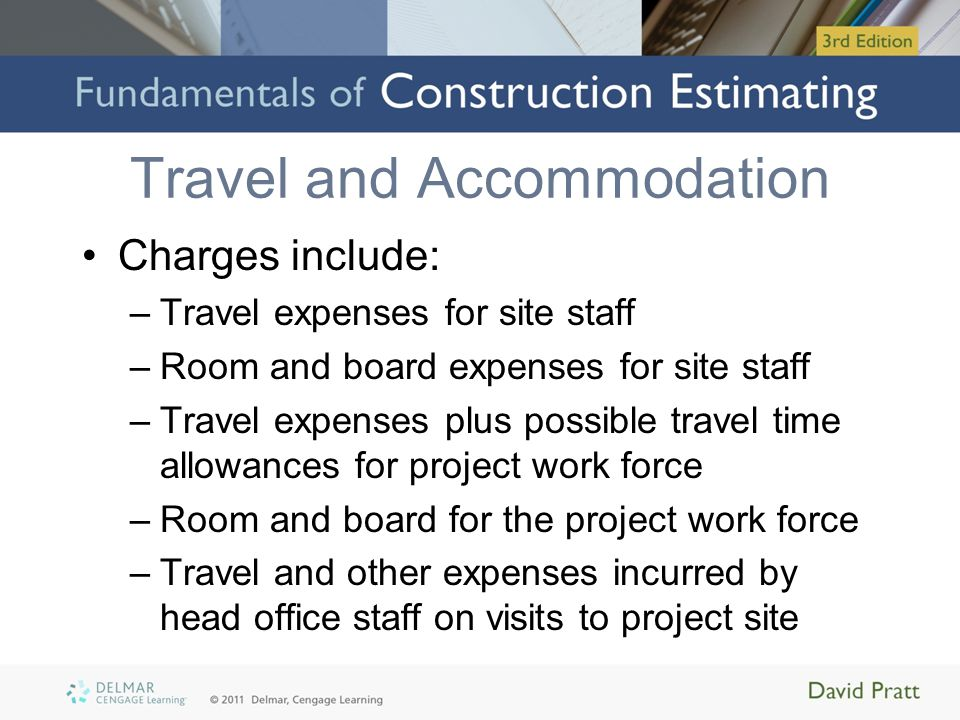 Temporary Site Offices Costs may include: –Rentals –Costs to move trailers in and out –Office furniture and stationery supplies –Fax machines and copying machines –Computers, printers, etc.