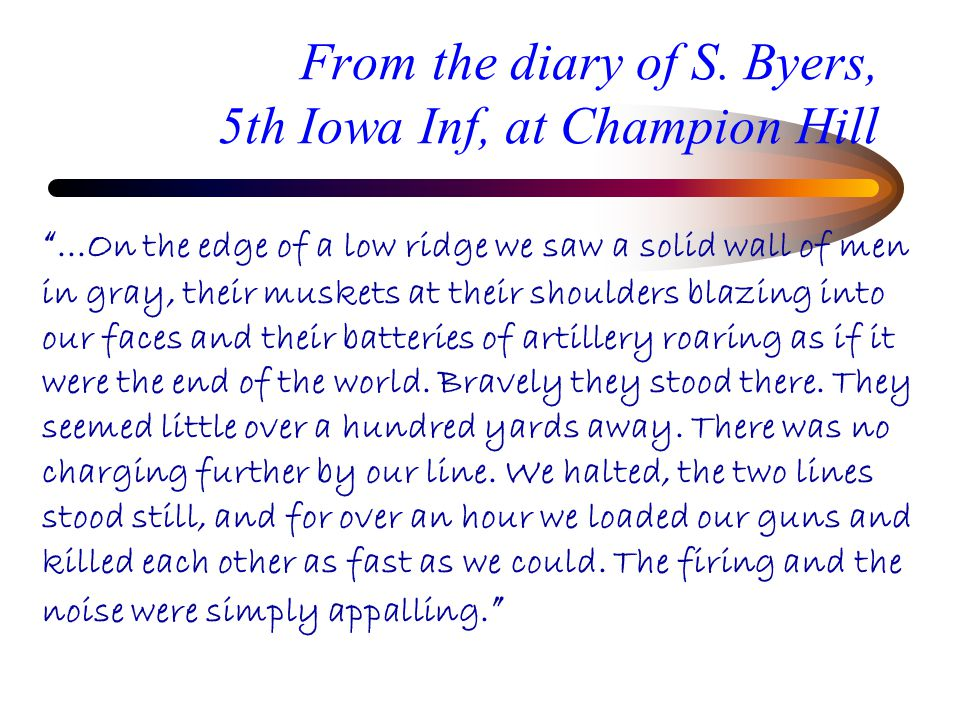 From the diary of S.