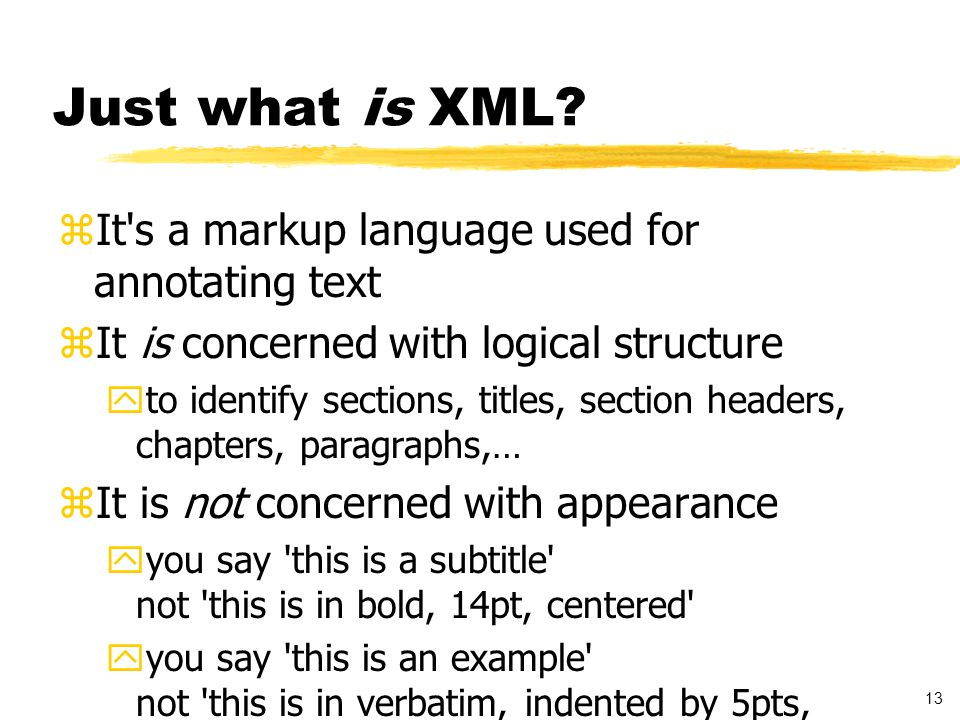14 Like this example …..Title of text XHTML Document Heading of Page …..