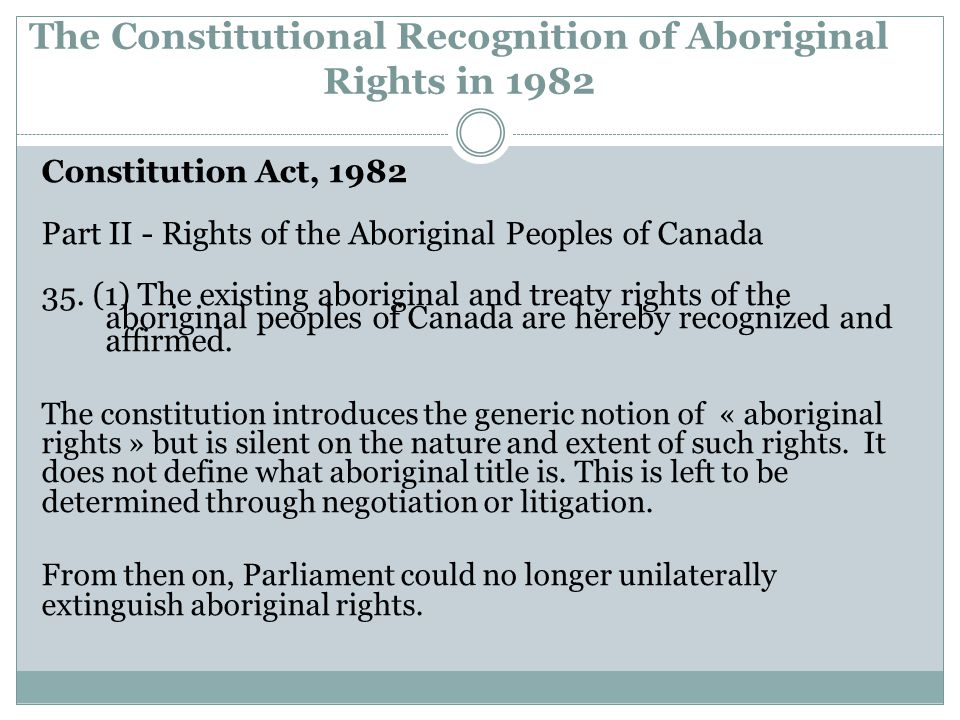 Judicial Definition of Indigenous Rights to Land: Affirming the Common Law Principle of Ownership The Supreme Court has applied a basic test of equivalence of claimed indigenous rights to 'modern' common law rights Both the aboriginal and common law perspectives must be considered but only claims that correspond to recognised common law rights can be upheld.