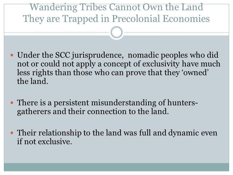 The Two-Tier Approach and Distributive Issues Limited harvesting rights are more easily reconciled with non-indigenous use of land and resources and governments retain greater control of Crown land management They are limited to specific resources traditionally used for food, ceremonial and subsistence purposes Granting commercial harvesting or resource extraction rights to third parties remains possible Aboriginal title, on the other hand, gives an indigenous group exclusive control of the soil and subsoil.