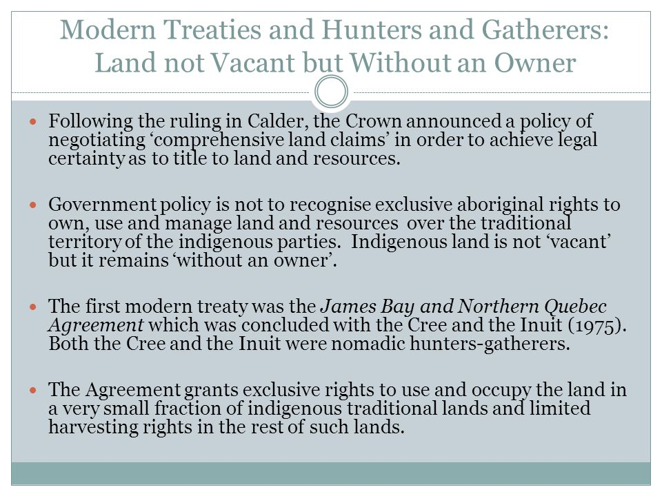 DO HUNTERS-GATHERERS OWN THEIR TRADITIONAL LAND? Constitutional Recognition
