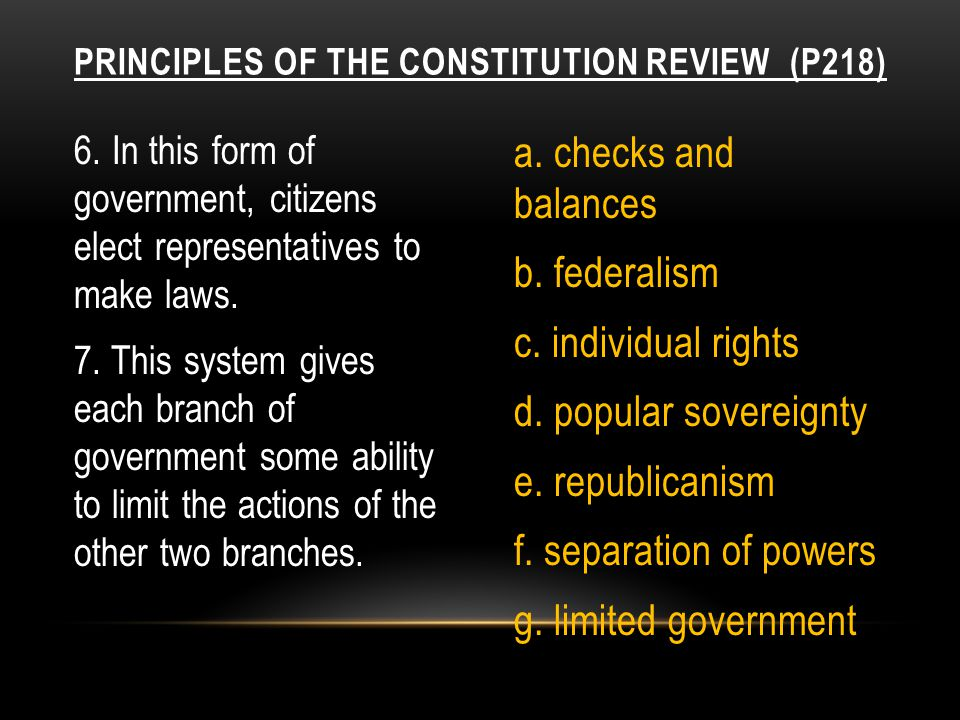 8.This idea keeps the government from becoming abusing power.