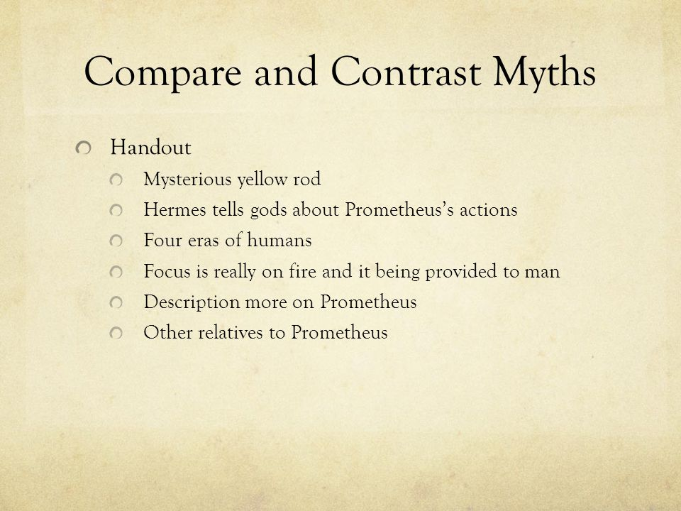 Three Paragraph Response Write a three paragraph response for the following prompt: Compare and contrast the two myths of Prometheus.
