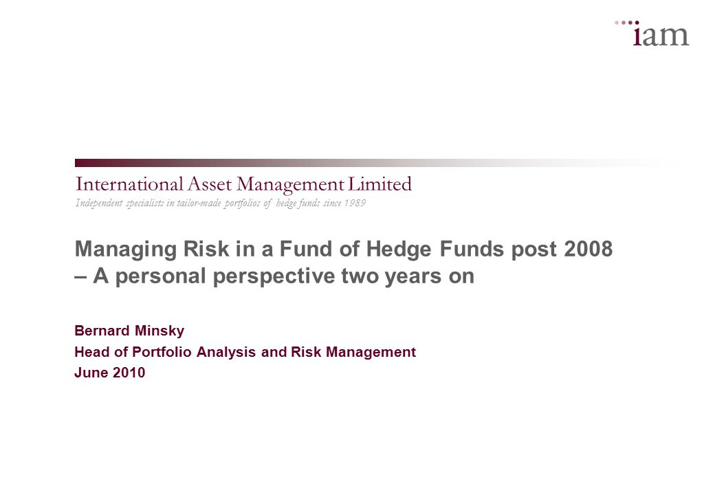 2 Agenda  A chronology – 2006 to 2010  Risk management before 2008  Our view in December 2008  Fifteen minutes of fame  Brave New World or Animal Farm  Not just about risk management  Concluding thoughts