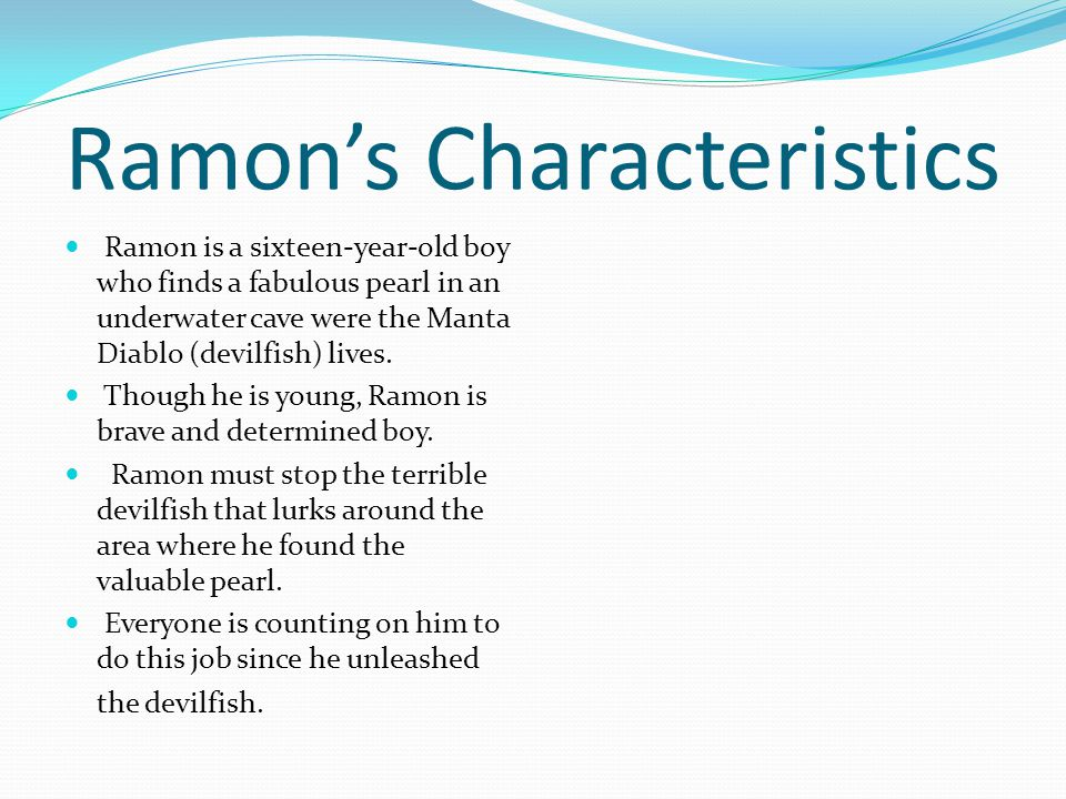 Ramon's Solution Ramon's bravery helped him stop the fierce devilfish that roamed around the underwater cave.