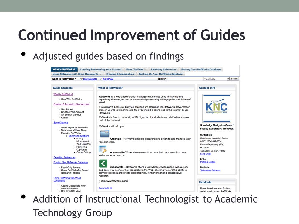 Our newly renovated LibGuides! RefWorks Word For Dissertation