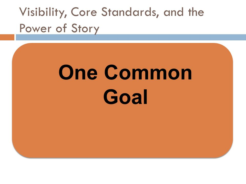 Visibility, Core Standards, and the Power of Story  How did the power of the stories reflect the why of each school.