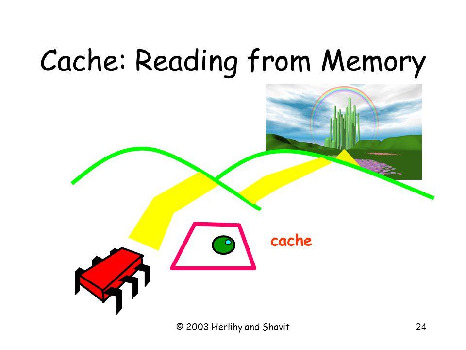 © 2003 Herlihy and Shavit25 Cache Hit cache ?