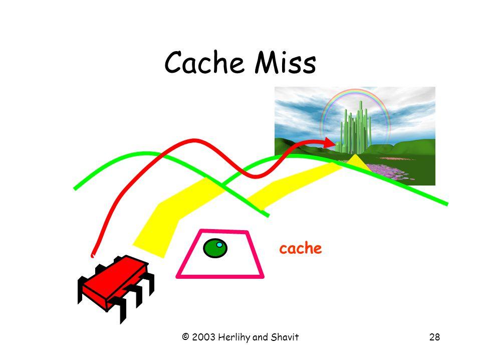 © 2003 Herlihy and Shavit29 Cache Miss cache