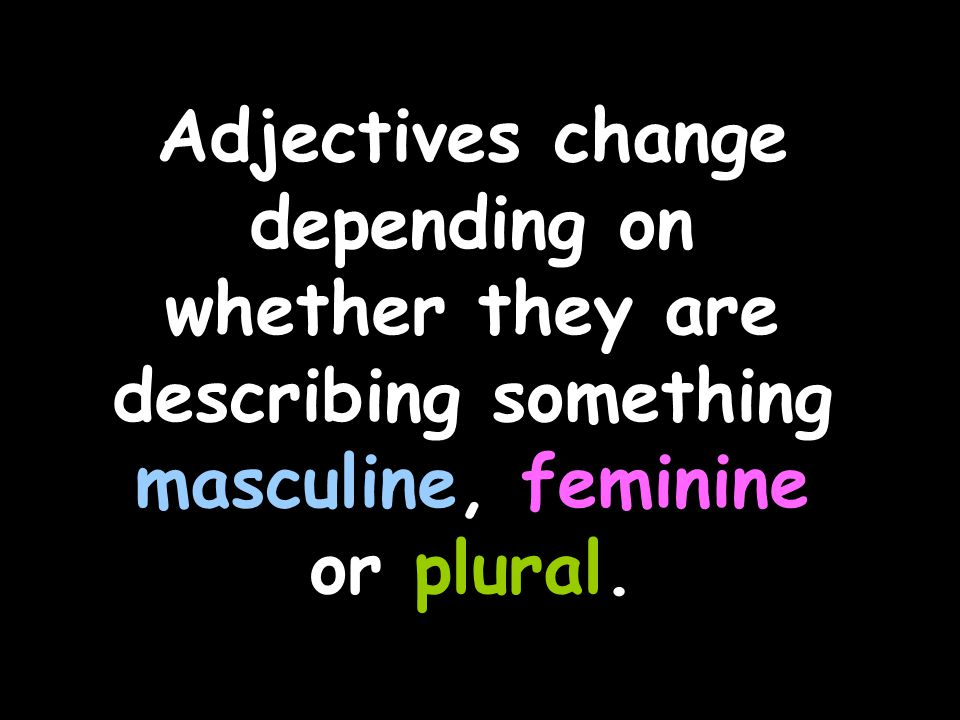 Feminine colours usually add an 'e'.