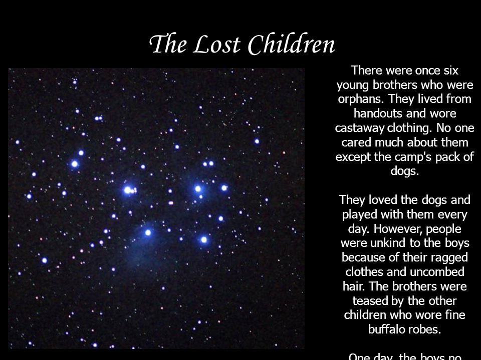The Lost Children They decided they wanted to be stars.