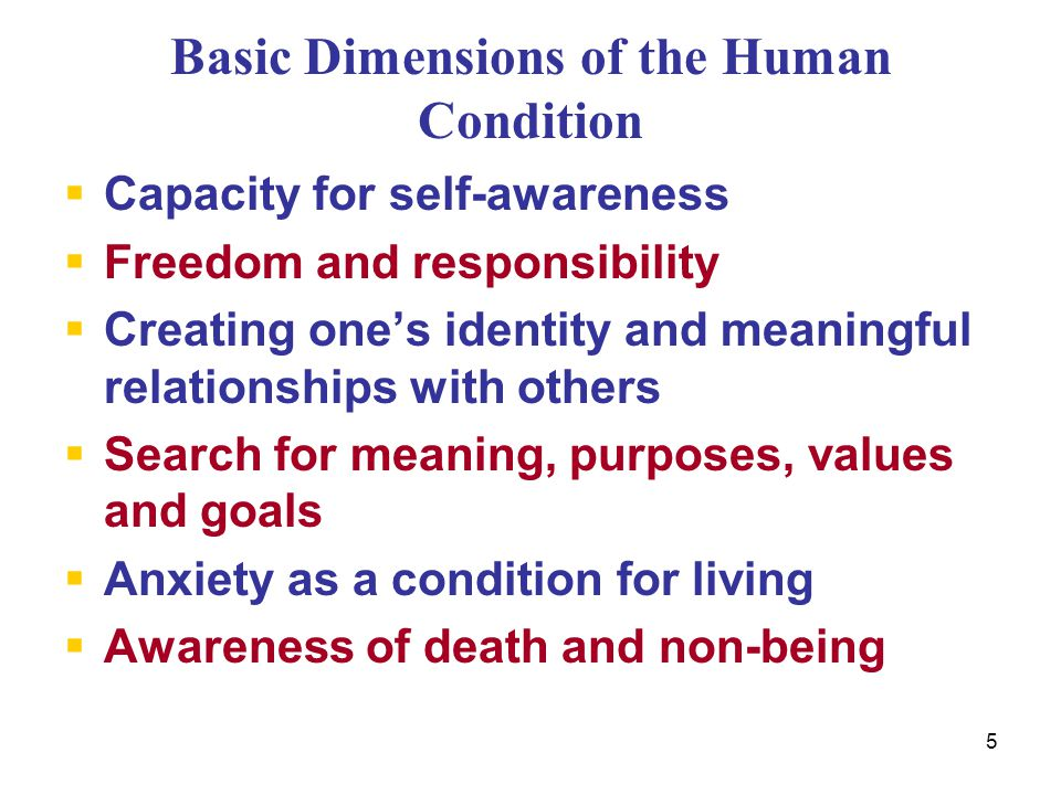 6 Theory of Personality  Dynamic Model Forces in conflict  need to survive and assert one's being vs.