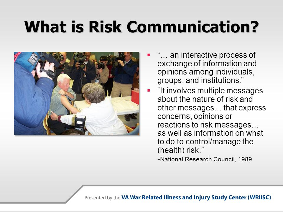 Why Risk Communication.