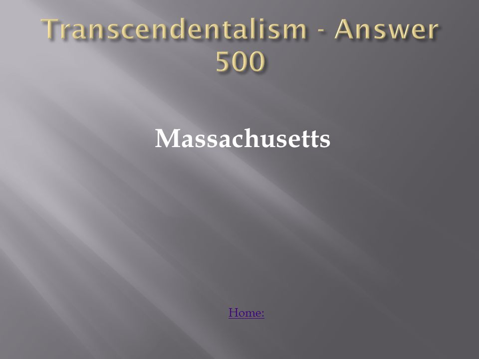 Explain how transcendentalism relates to our modern society? Answer: