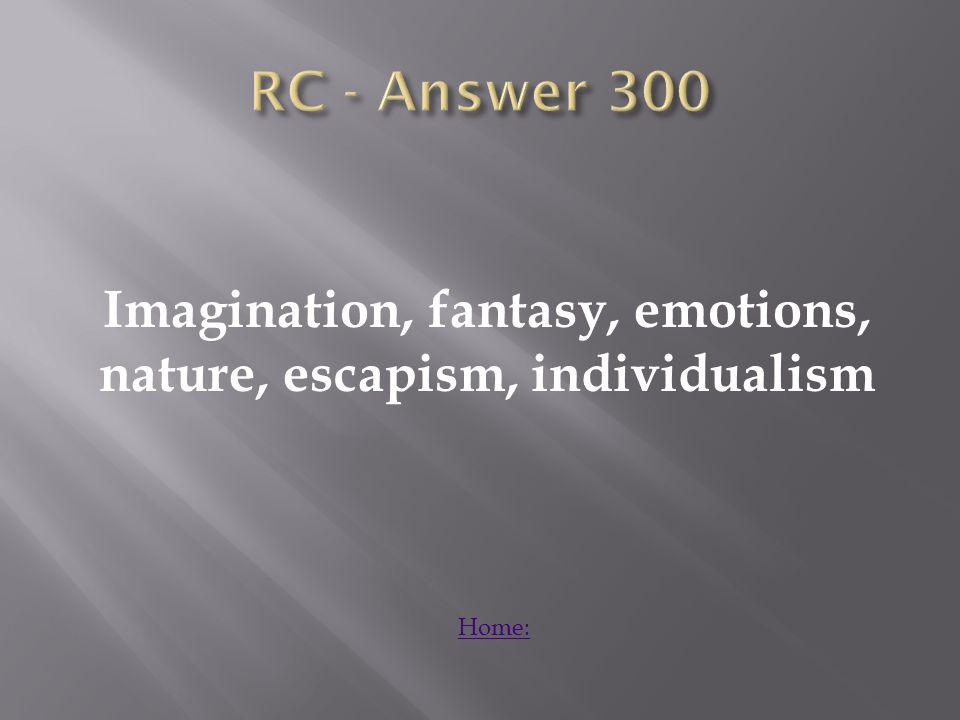 Explain how the literature helped emphasize the focus of individualism. Answer: