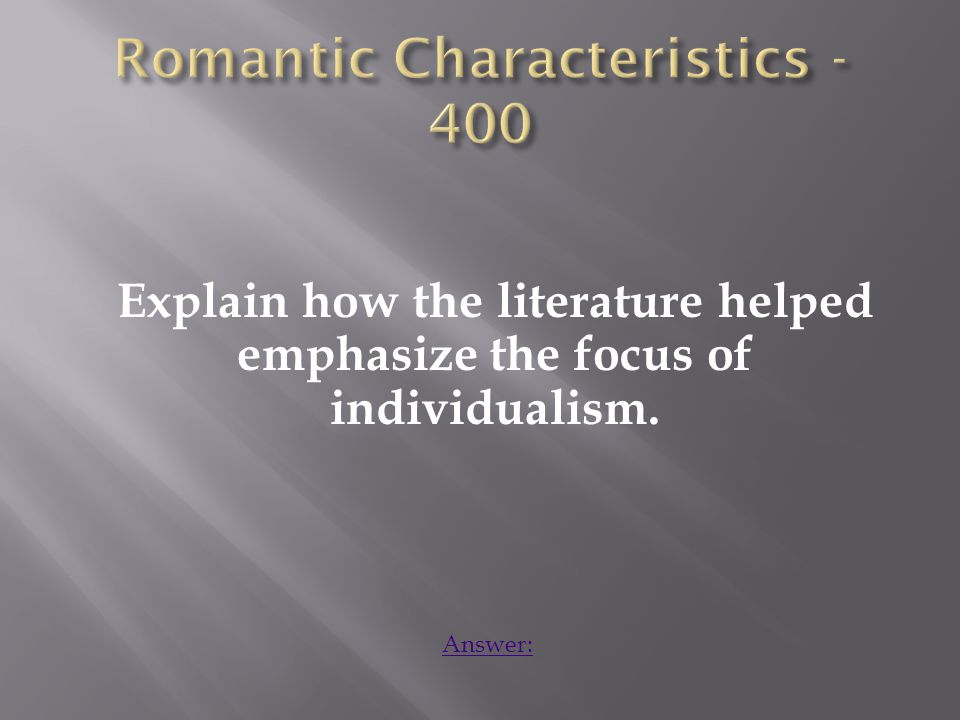 The literature was open to multiple interpretations, each dependent on the individual reading the literature.