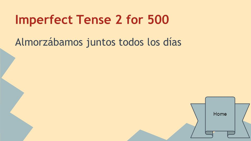 Grammar for 100 Say the word BEGAN in Spanish