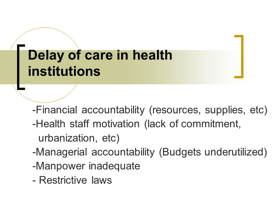 Other factors -Illiteracy -Harmful traditions -Poor access to other reproductive health care services