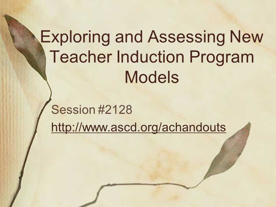 Exploring and Assessing New Teacher Induction Program Models Mentoring Leadership and Resource Network