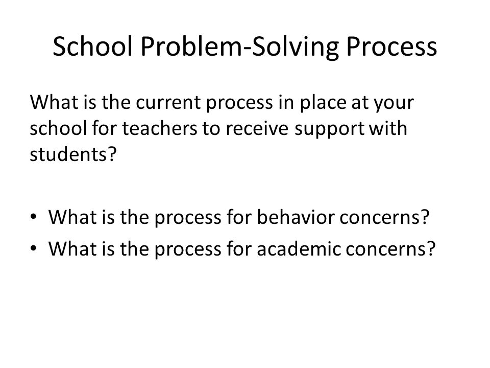 Student Problem-Solving Team Data Functions Examines groups of student data: ODR's Attendance, nurse visits Receives teacher nominations/requests – Decides if Tier II – Decides if SST is needed Assesses efficacy of Tier II interventions Student Study Functions Examines individual students Function-based assessment Design Tier III interventions Assess individual student progress Determine when to move on evaluation planning