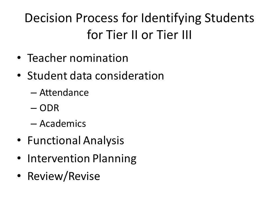 Student Problem Solving Team Membership Will vary depending on school structure & grade-levels served Multi-disciplinary team Someone with access to data & interpretation Staff skilled at thinking function