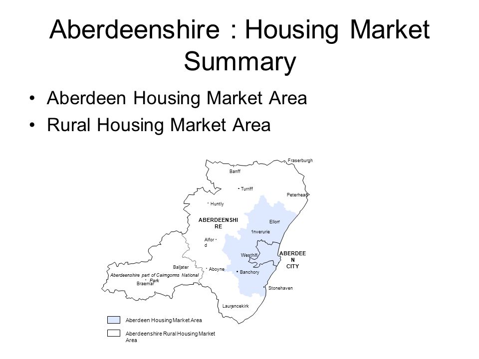 Aberdeenshire Predominantly rural area Traditionally reliant on agriculture, fishing and forestry Last 35 years emergence of oil and gas industry leading to rapid population growth Through strong commuting flows linked to Aberdeen City