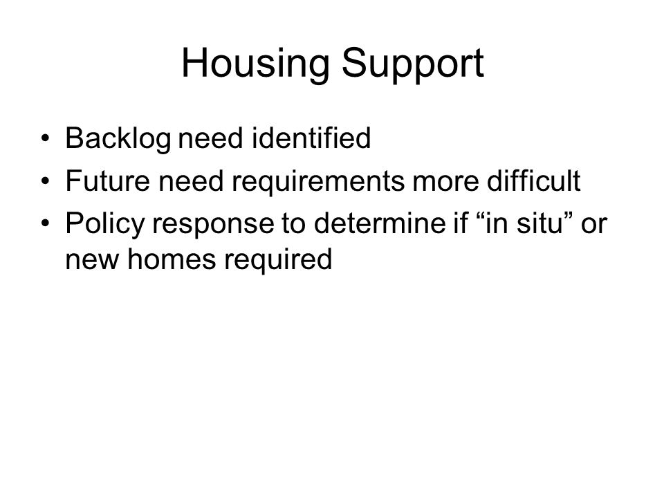 Housing Support Included in each Strategic Outcome Statement.
