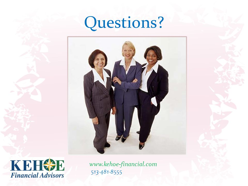The information presented is not intended to constitute tax or legal advice.