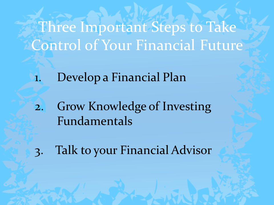 Five Attributes of a Good Financial Advisor  Credentials  Referrals  Personal Interview  Disclosure  Due Diligence