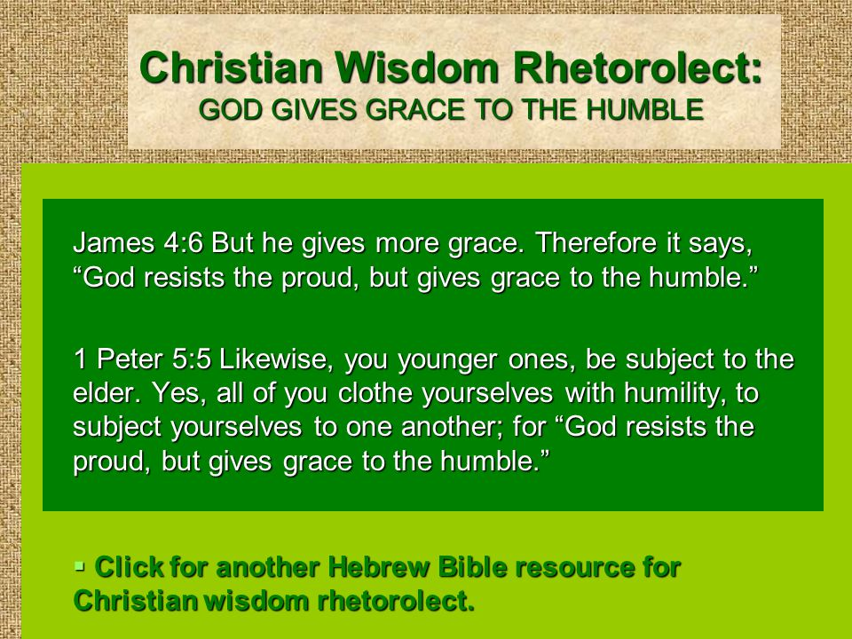 A Hebrew Bible Resource for Christian Wisdom Rhetorolect: LOVE COVERS ALL OFFENSES Proverbs 10:12 Hatred stirs up strife, but love covers all wrongs.