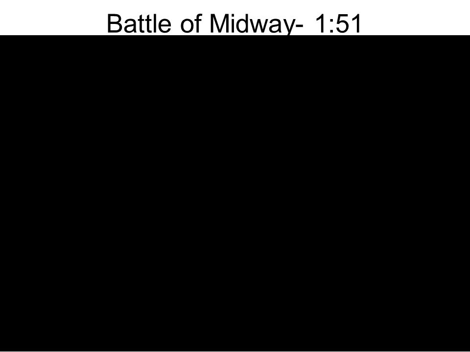Battle of Midway- June 4-7, 1942 Fought just a month after the Battle of the Coral Sea, Midway was the turning point of the Pacific Campaign Yamamoto's secret plan to surprise the American ships at Midway With American ships destroyed, –Japan could avenge the bombing of the Japanese home islands.