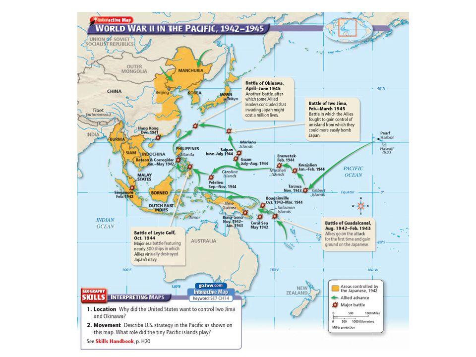The United States Military Island Hops Towards Japan (00:58)