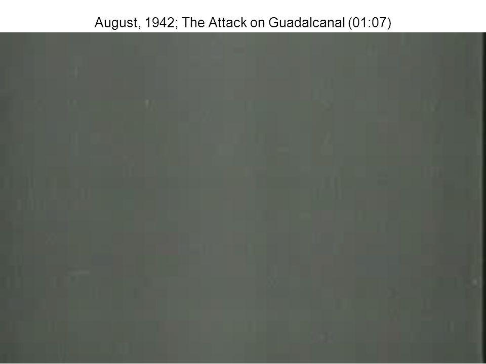 Battle for Guadalcanal - Aug.