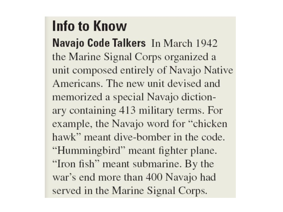 Navajo Code Talkers The Code Talker s primary job was to talk and transmit information on tactics, troop movements, orders and other vital battlefield information via telegraphs and radios in their native dialect.