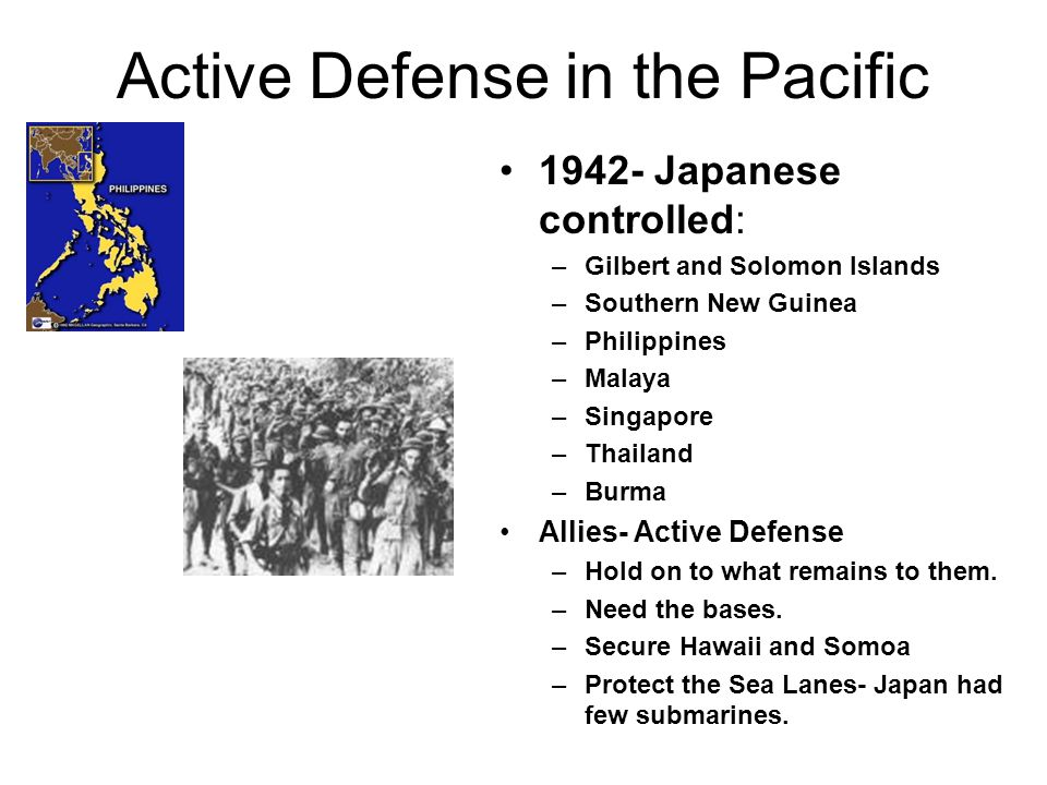 A Slow Start for the Allies Why did the Allies experience a slow start in the Pacific.