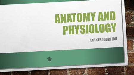 ANATOMY AND PHYSIOLOGY AN INTRODUCTION. DEFINTIONS ANATOMY – THE STRUCTURE OF BODY PARTS (ALSO CALLED MORPHOLOGY) PHYSIOLOGY – THE FUNCTION OF THE BODY.