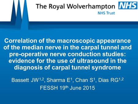 Correlation of the macroscopic appearance of the median nerve in the carpal tunnel and pre-operative nerve conduction studies: evidence for the use of.