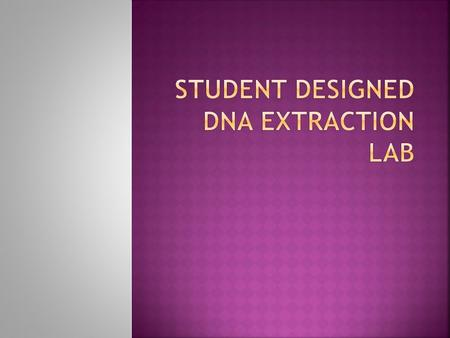 Question: Can we extract DNA from _____________________________________? Hypothesis: If we try to extract DNA from _____________________________________.