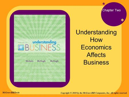 * * Understanding How Economics Affects Business * Chapter Two Copyright © 2010 by the McGraw-Hill Companies, Inc. All rights reserved. McGraw-Hill/Irwin.