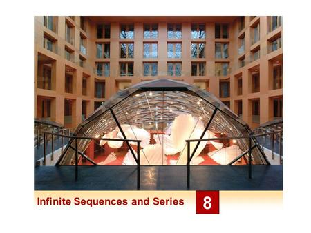 Infinite Sequences and Series 8. Sequences 8.1 3 Sequences A sequence can be thought of as a list of numbers written in a definite order: a 1, a 2, a.