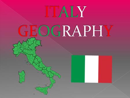 "ITALY It is an ancient land, rich in History and culture, that's why is known as ""Bel Paese"", Italy is a peninsula which is called ""the boot"" because."