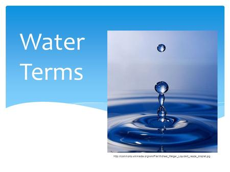 Water Terms