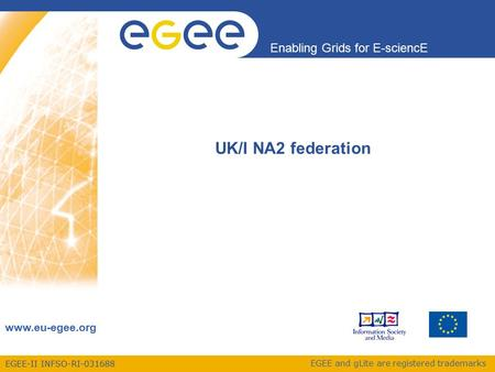 EGEE-II INFSO-RI-031688 Enabling Grids for E-sciencE www.eu-egee.org EGEE and gLite are registered trademarks UK/I NA2 federation.