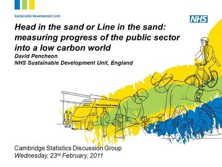 Www.sdu.nhs.uk Head in the sand or Line in the sand: measuring progress of the public sector into a low carbon world David Pencheon NHS Sustainable Development.