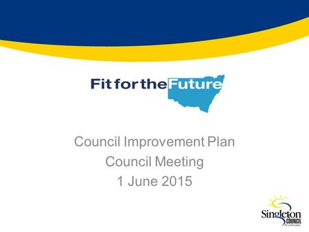 Council Improvement Plan Council Meeting 1 June 2015 1.