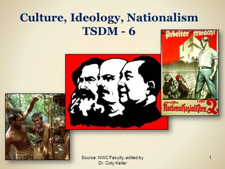 Culture, Ideology, Nationalism TSDM - 6 6/24/20161Source: NWC Faculty, edited by Dr. Coty Keller.